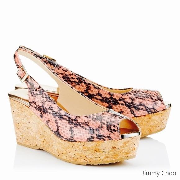 3c386d9b8e2c Jimmy Choo Shoes - Jimmy Choo Praise Snake-Print Cork Wedge